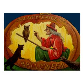 Vintage Halloween Card Postcard