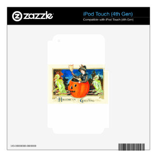 Vintage Halloween Card Style 0002 iPod Touch 4G Decals