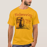 Vintage Halloween Cat and Owl Men's Shirts