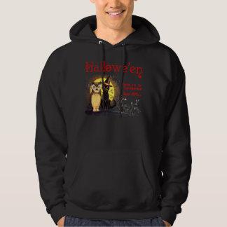 Vintage Halloween Cat and Owl Sweatshirts