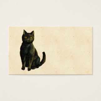Vintage Halloween Cat Business Card