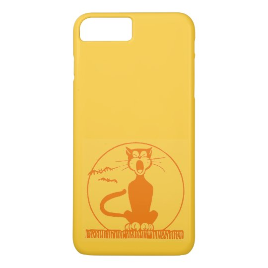 Vintage Halloween Cat iPhone 8 Plus/7 Plus Case