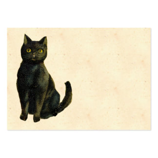 Vintage Halloween Cat Large Business Card