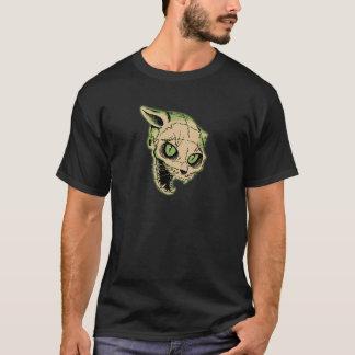 Vintage Halloween Cat Skeleton T-Shirt