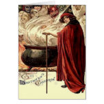 Vintage Halloween Cauldron Magic Greeting Card