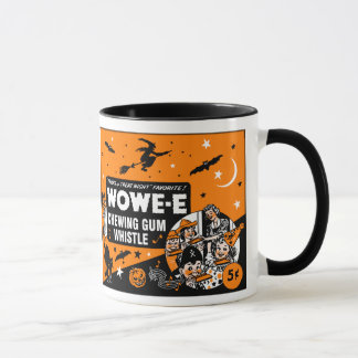 Vintage Halloween Chewing Gum Whistle Mug