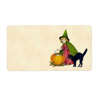 Vintage Halloween Child Custom Shipping Label