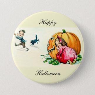 Vintage Halloween Children Button