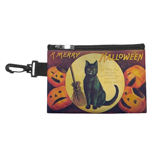 Vintage Halloween Clip On Accessory Bag