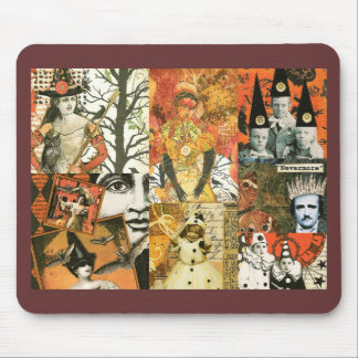 Vintage Halloween Collage Mouse Pad