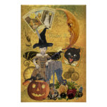 Vintage Halloween Collage Poster