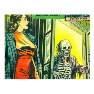 Vintage Halloween Comic Book Postcard