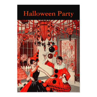 Vintage Halloween Costume Party Card