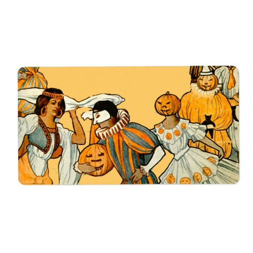 Vintage Halloween Costume Party Shipping Label