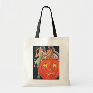 Vintage Halloween Costume Party Tote Bag