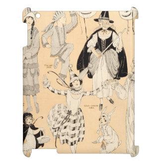 Vintage Halloween Costumes Children Adult Witch iPad Case