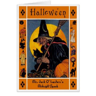 VINTAGE HALLOWEEN COVERART CARD
