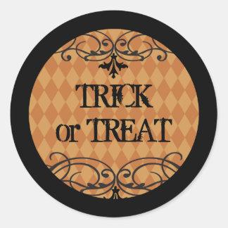 Vintage Halloween Cupcake Topper Stickers