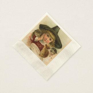 vintage Halloween cutie Paper Napkin