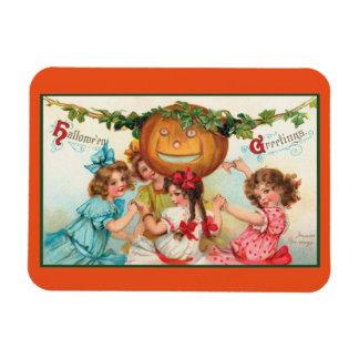 Vintage Halloween Dancers Magnet