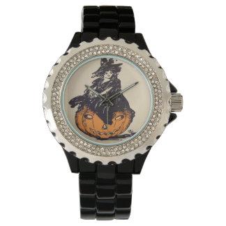 Vintage Halloween de la bruja de la linterna de Reloj De Mano