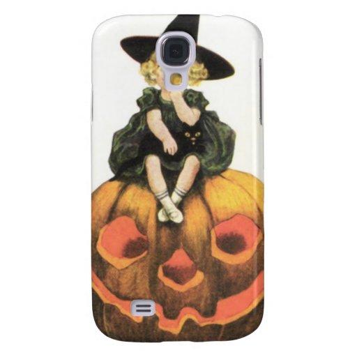 Vintage Halloween de la mujer de Witchy