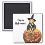 Vintage Halloween de la mujer de Witchy Iman De Frigorífico