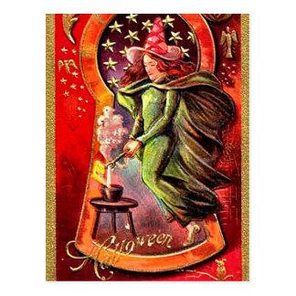 Vintage Halloween del Brew de las brujas del KRW Postal