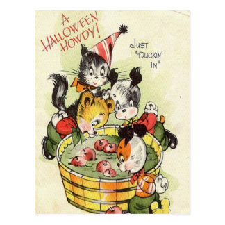Vintage Halloween del KRW Howdy lindo Tarjetas Postales