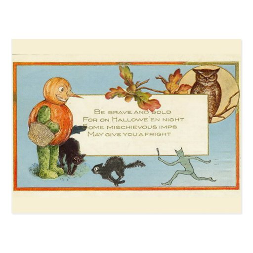 Vintage Halloween del KRW - modificado para Postales