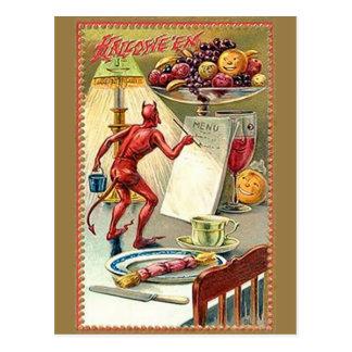 Vintage Halloween del KRW Tarjeta Postal