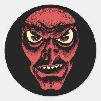 Vintage Halloween Demon or Witch Sticker