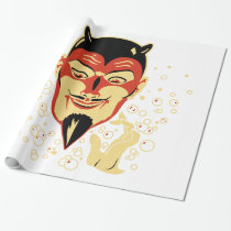 Vintage Halloween Devil Head #2 Wrapping Paper