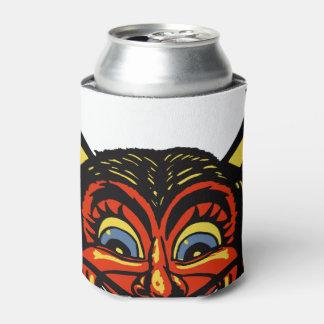 Vintage Halloween Devil Head Can Cooler