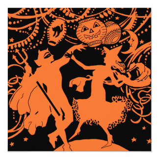 Vintage Halloween Devil Witch Dance Card