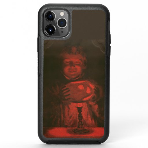 Vintage Halloween Eerie Man With Pumpkin OtterBox Symmetry iPhone 11 Pro Max Case