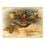 Vintage Halloween etéreo Tarjeta Postal