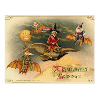 Vintage Halloween etéreo Tarjetas Postales