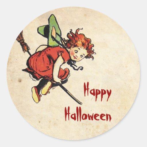Vintage Halloween Etiqueta