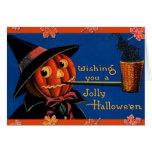 Vintage Halloween Felicitacion