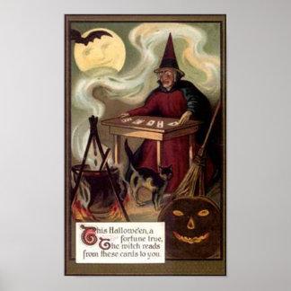 Vintage Halloween Fortune Teller Posters