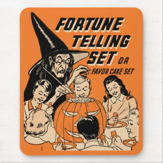 Vintage Halloween Fortune Telling Set Mousepad