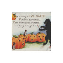 Vintage Halloween Funny Cute Scary Stone Magnet