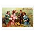 Vintage Halloween Games Postcard