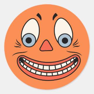 Vintage Halloween German Jack O'Lantern Face Stickers