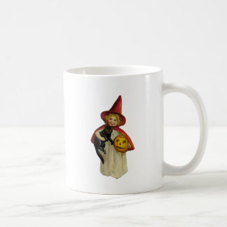 Vintage Halloween Girl Coffee Mug