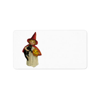 Vintage Halloween Girl Personalized Address Labels