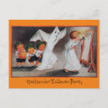 Vintage Halloween Girl Party Invitation