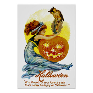 Vintage Halloween Glamour Poster