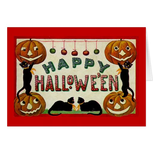 Vintage Hallowe'en Greeting Card